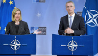 Meetings of the NATO Foreign Ministers at NATO Headquarters in Brussels - Joint Press Conference NATO Secretary General and the EU High Representative for Foreign Affairs and Security Policy