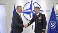 Meetings of the NATO Foreign Ministers at NATO Headquarters in Brussels - Bilateral meeting between NATO Secretary General and the Commander of Resolute Support