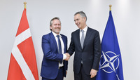 Meetings of the NATO Foreign Ministers at NATO Headquarters in Brussels - Bilateral meeting between NATO Secretary General and the Minister of Foreign Affairs of Denmark