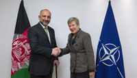 Visit to NATO by the National Security Advisor of Afghanistan