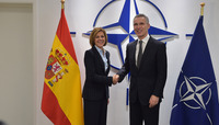 Meetings of the NATO Defence Ministers at NATO Headquarters in Brussels - Bilateral meeting between NATO Secretary General and the Minister of Defence of Spain