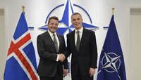 Meetings of the NATO Defence Ministers at NATO Headquarters in Brussels - Bilateral meeting between NATO Secretary General and the Minister of Foreign Affairs of Iceland