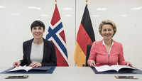 Meetings of the NATO Defence Ministers at NATO Headquarters in Brussels - Letter of Intent for German-Norwegian acquisition of submarines and naval missiles