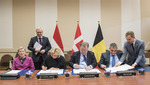 170216e-003.jpg - Meetings of the NATO Defence Ministers at NATO Headquarters in Brussels - Letter of Intent on Composite Special Operations Component Command (C-SOCC) between Belgium, Denmark and The Netherlands, 57.08KB