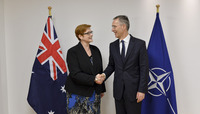 Meetings of the NATO Defence Ministers at NATO Headquarters in Brussels - Bilateral meeting between NATO Secretary General and the Minister of Defence of Australia