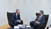 Meetings of the NATO Defence Ministers at NATO Headquarters in Brussels - Bilateral meeting between NATO Secretary General and Deputy Prime Minister and Minister of Defence of Kuwait
