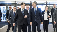 Visit to NATO by the Prime Minister of Estonia