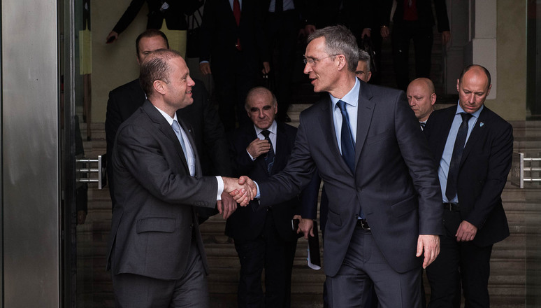 NATO Secretary General Jens Stoltenberg and the Prime Minister of Malta  Joseph Muscat