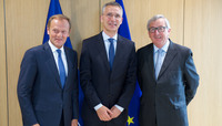 NATO Secretary General meets with the President of the European Commission and the President of the European Council