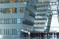 Walk-through of the Agora of the new NATO Headquarters - Meeting of NATO Heads of State and Government in Brussels