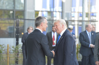 Arrival of the President of the United States - Meeting of NATO Heads of State and Government in Brussels
