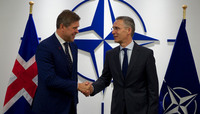 The Prime Minister of Iceland visits NATO
