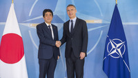The Prime Minister of Japan visits NATO