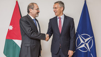 The Minister of Foreign Affairs of Jordan visits NATO