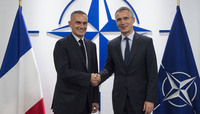 The Chairman of the Steering Committee in France for the Strategic Review of security and national defense visits NATO