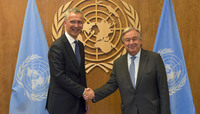 NATO Secretary General visits the United States - Bilateral meeting with UN Secretary-General