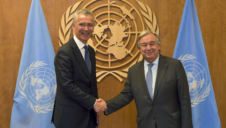 NATO Secretary General Jens Stoltenberg and United Nations Secretary-General Antonio Guterres