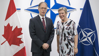 The Deputy Minister of Foreign Affairs of Canada visits NATO