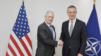 Meetings of the NATO Defence Ministers at NATO Headquarters in Brussels -Bilateral meeting between NATO Secretary General and the US Secretary of Defense