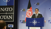 Meetings of the NATO Defence Ministers at NATO Headquarters in Brussels - Press conference by the Acting Minister of Defence of Afghanistan