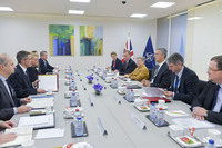 Meetings of the NATO Defence Ministers at NATO Headquarters in Brussels - Bilateral meeting between NATO Secretary General and the UK Minister of Defence