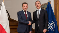 NATO Secretary General meets with the Minister of Defence of Poland