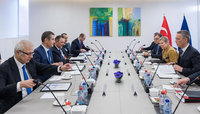 Meetings of the Defence Ministers at NATO Headquarters in Brussels - Bilateral meeting between NATO Secretary General and the Defence Minister of Turkey