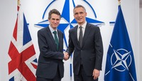 Meetings of the Defence Ministers at NATO Headquarters in Brussels - Bilateral meeting between NATO Secretary General and the UK Secretary of State for Defence Minister