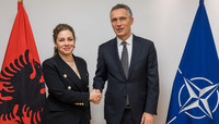 Meetings of the Defence Ministers at NATO Headquarters in Brussels - Bilateral meeting between NATO Secretary General and the Defence Minister of Albania