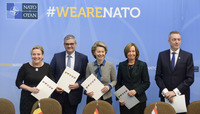 Meetings of the Defence Ministers at NATO Headquarters in Brussels - Signature Ceremony for Multi-Role Tanker Transport Capabilities
