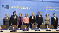 Meetings of the Defence Ministers at NATO Headquarters in Brussels - Signature Ceremony: Maritime Multi-Mission Aircraft