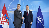 The Prime Minister of Croatia visits NATO