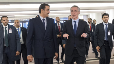 Secretary General welcomes the Emir of Qatar to NATO Headquarters