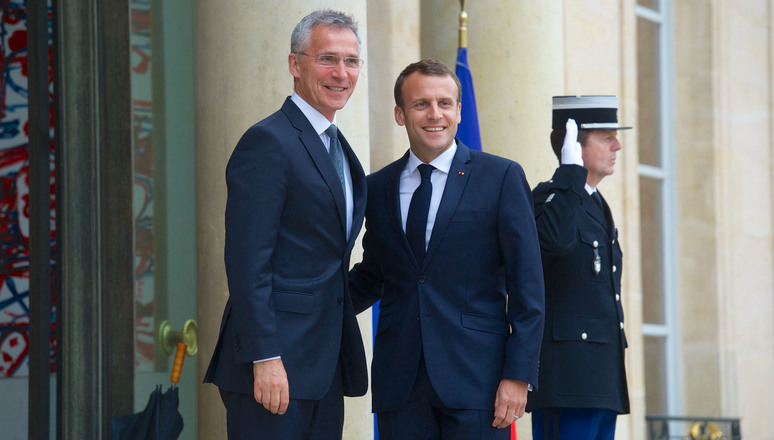 Secretary General thanks President Macron for his personal commitment to the transatlantic relationship