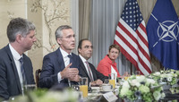 NATO Summit Brussels 2018 - Breakfast Meeting between NATO Secretary General and the US President