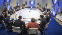 NATO Summit Brussels 2018 - Working dinner of the North Atlantic Council at the level of Heads of State and Government