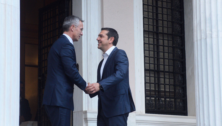 NATO Secretary General Jens Stoltenberg and Prime Minister of the Hellenic Republic, Alexis Tsipras.