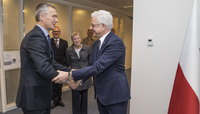 The Minister of Foreign Affairs of Poland visits NATO