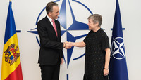 The Minister of Defence of Moldova visits NATO