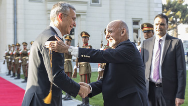 NATO Secretary General and top military leaders visit Afghanistan