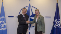 The United Nations Secretary-General's Special Representative for Afghanistan visits NATO