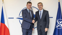 The Minister of Foreign Affairs of the Czech Republic visits NATO