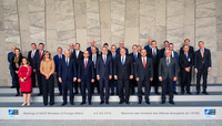 Meetings of the Ministers of Foreign Affairs at NATO Headquarters in Brussels - Official Family Portrait