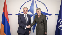 Meetings of the Ministers of Foreign Affairs at NATO Headquarters in Brussels - Bilateral meeting between NATO Deputy Secretary General and the Minister of Foreign Affairs of Armenia