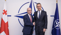 Meetings of the Ministers of Foreign Affairs at NATO Headquarters in Brussels - Bilateral meeting between NATO Secretary General and the Minister of Foreign Affairs of Georgia