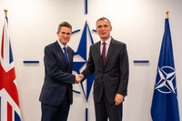 Meetings of the Ministers of Defence at NATO Headquarters in Brussels - Meeting between NATO Secretary General and the UK Secretary of State for Defence