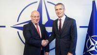 Meetings of the Ministers of Defence at NATO Headquarters in Brussels - Bilateral meeting with  the Minister of Defence of Georgia