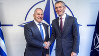 Meetings of the Ministers of Defence at NATO Headquarters in Brussels  - Bilateral meeting between NATO Secretary General and the Minister of Defence of Greece