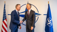 Meetings of the Ministers of Defence at NATO Headquarters in Brussels - Meeting between NATO Secretary General and the Acting US Secretary of Defense