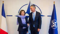 Meetings of the Ministers of Defence at NATO Headquarters in Brussels - Meeting between NATO Secretary General and the Minister of the Armed Forces of France